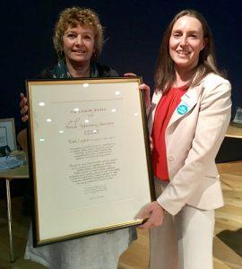 Benchmark Co-founder Ruth Layton Receives Prestigious Award For Her International Work