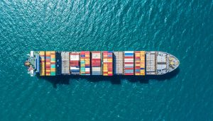 container ship in import export and business